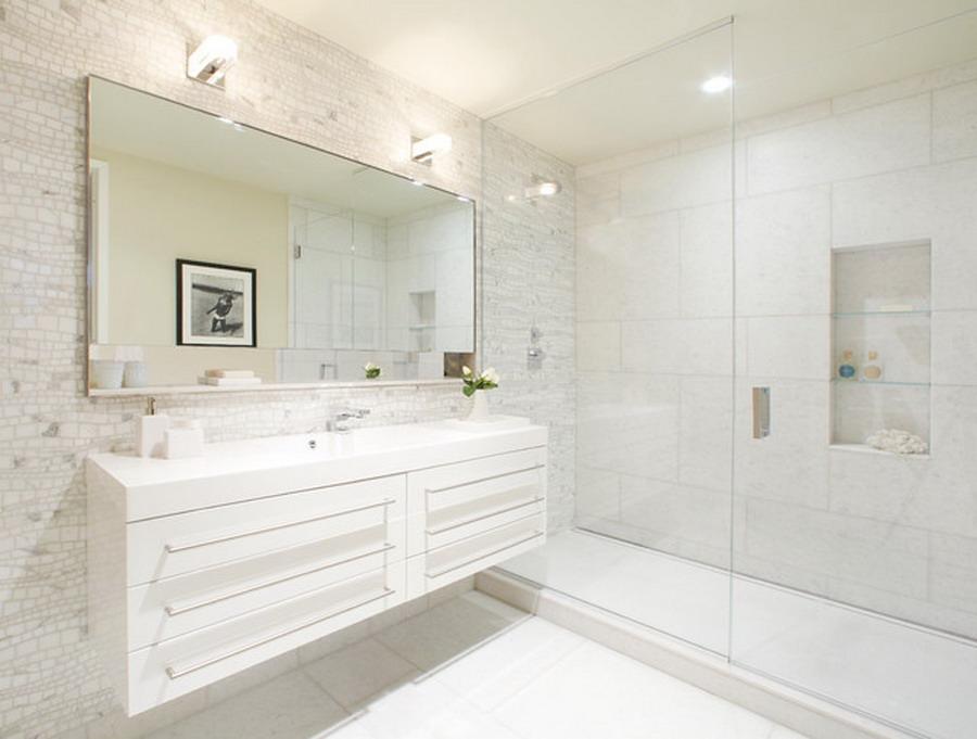 Een badkamer groter laten lijken tip huisvlotverkocht - Kleine badkamer deco ...